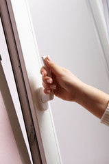 Opening of the window with window handle