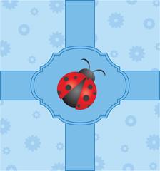 Vector cute card with ladybug