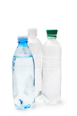 Bottles with drinking water
