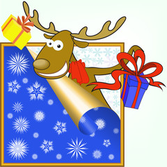 elk with gifts