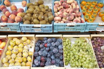 Südfrüchte in Obststiegen