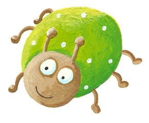 Funny green bug