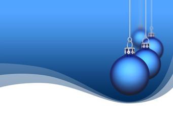 Weihnachtskugeln mit Wellen blau01