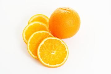 Spoed Foto op Canvas Plakjes fruit Orangen - Orange mit Orangenscheiben