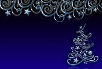Weihnachtsdekoration mit Christbaum