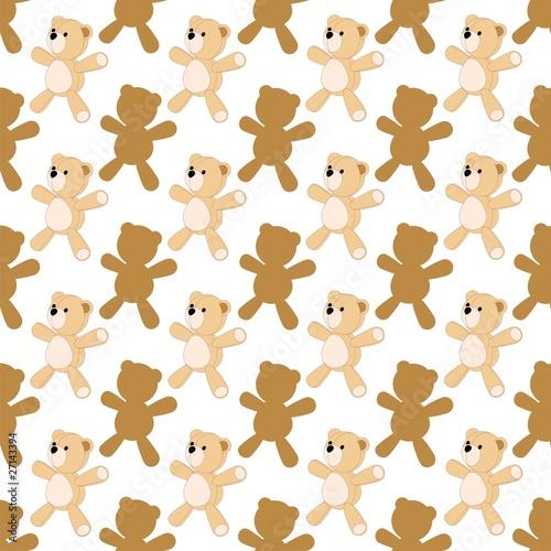 orso di pezza sfondo peluche teddy bear background vector stock