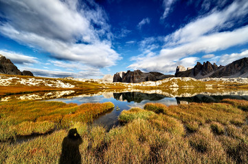 Alpi, Dolomiti, Montagna, Laghi dei PIani, Sesto