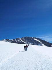 Hope on Walk Way at Jungfraujoch Top of Europe in the Swiss Moun