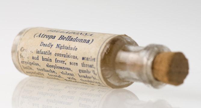 Homeopathic medicine bottle
