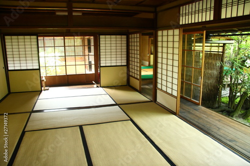 Interieur japonais traditionnel photo libre de droits for Interieur japonais