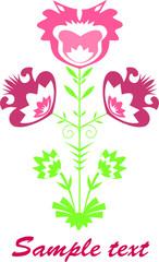 Pink cutout