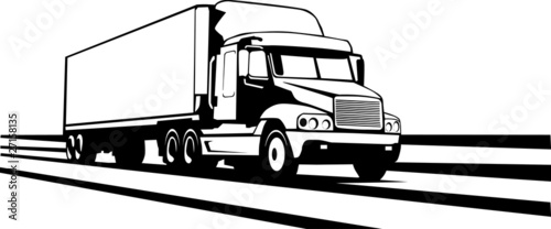 Quot Trailer Truck Along The Interstate Quot Stock Image And