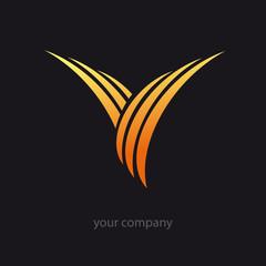 logo entreprise, initiale v