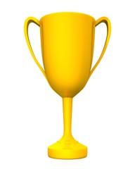 3D Pokal Gold freigestellt