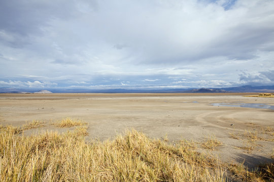 Mojave Dry Lake Storm