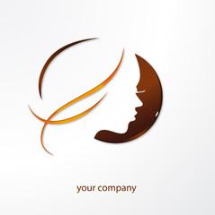logo entreprise, esthétique, coiffure