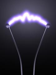 Elektroden mit Lichtbogen detail