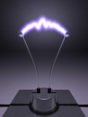Elektroden mit Lichtbogen inkl. Standfuß