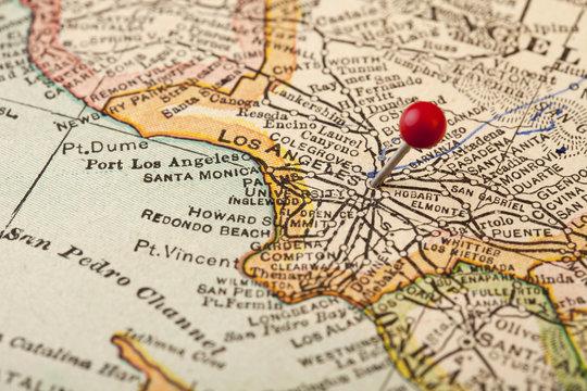 Los Angeles vintage map