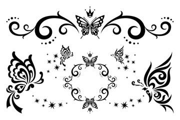 蝶のイラスト3種類セット