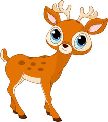 Canvas Prints Fairytale World Beautiful cartoon deer