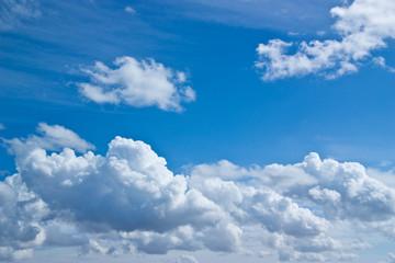 Canvas Prints Blue sky white clouds