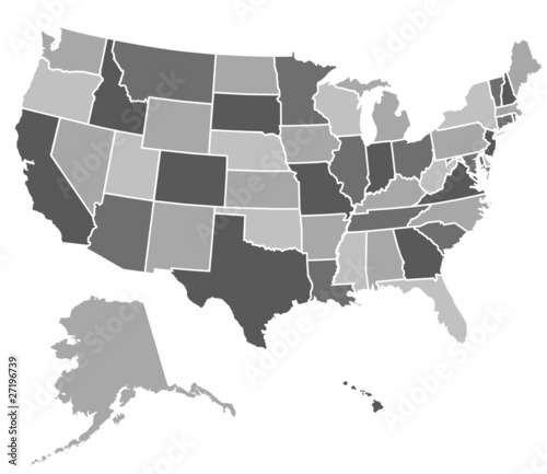 United States Map Stock Image And Royaltyfree Vector Files On - Us map free vector