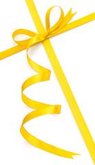Yellow bow and ribbon
