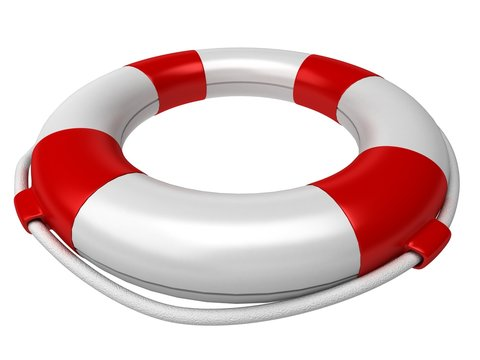 Isolated 3d life preserver
