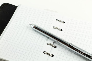 personal organizer with pen