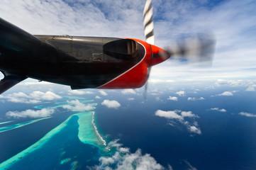bird's-eye view of maldives atolls