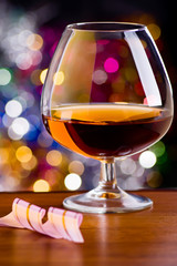 Cognac in a glass