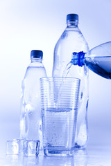 Water bottle background