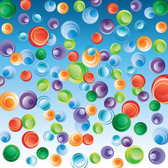 Abstract background with bubbles.