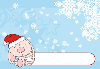 bunny cartoon background xmas2