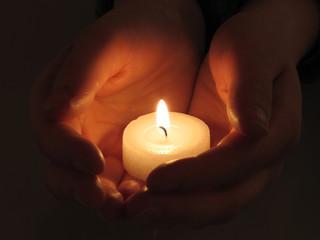 Licht in Händen