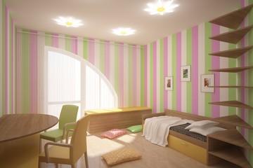 nice children interior