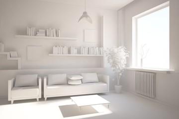 grey interior composition