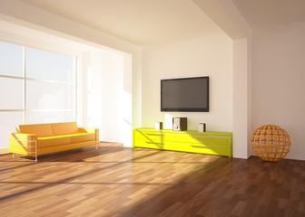 bright colored room