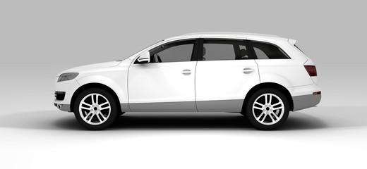 White big car