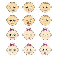 Caras espresiones bebe