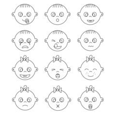 caras expresiones bebe
