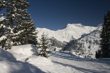 Wall Mural - Winter at Arlberg Mountains