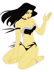 Vector Bikini Woman
