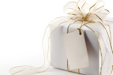 Gift boxes with blank label