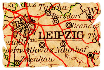 Leipzig old map