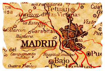 Madrid old map