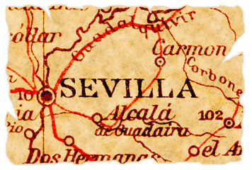 Sevilla old map