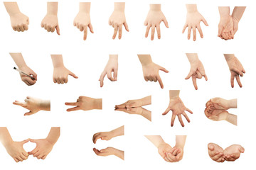 Composite of Hand gestures With Clipping Path