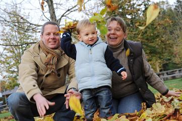 Familienfoto mit Kind